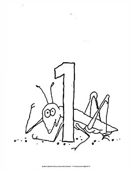"Numbers of Bugs in Black/White - 8.5"" x 11"""