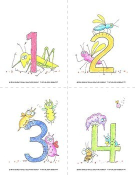 """Numbers of Bugs in Color - 4.25"""" x 5.5"""""""