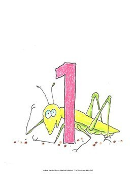 """Numbers of Bugs in Color - 8.5"""" x 11"""""""
