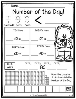 Numbers of the Day!  1-20