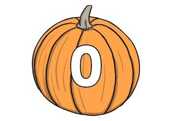 Numbers on Pumpkins Cutouts