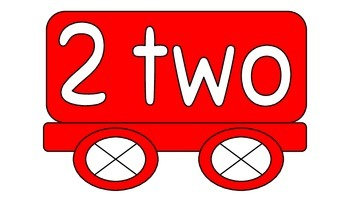 Numbers on Train 1 - 20 with words