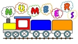 Colorful Train with Numbers 1 - 20 and words