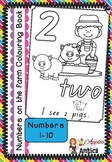 Numbers on the Farm Colouring Pages - 1-10