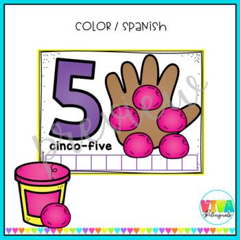 Numbers play dough mats / Dual language