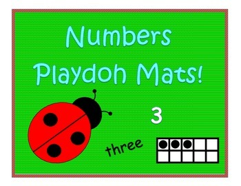 Numbers playdoh mats!