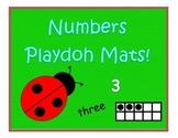 Numbers playdoh mats!