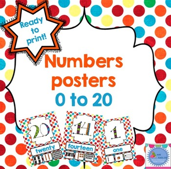 Numbers posters  {0 to 20}