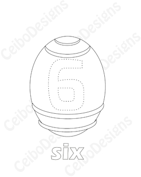 Easter Number activities, Spanish number activities, coloring number activity