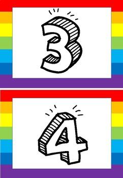 Numbers rainbow