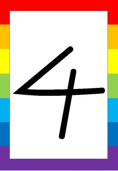 Numbers rainbow poster 0-9