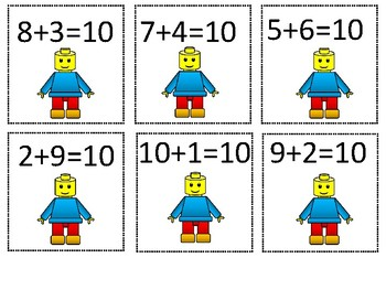 Numbers that Make Ten- Lego Themed Sort
