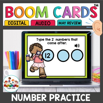 Numbers that come after May Boom Math Cards