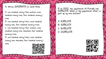 Numbers through one billion & place value relationships