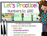 Numbers to 1,000 guided practice slides