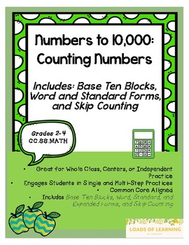 Numbers to 10,000 - Counting Numbers