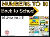 Numbers to 10- Back to School Centers