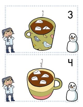Numbers to 10 Cards and Ten Frames with Cocoa and Marshmallows