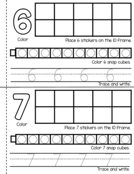 Numbers to 10-Counting Book