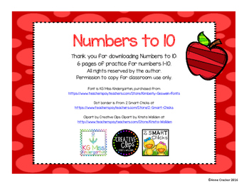 Numbers to 10 - Free!