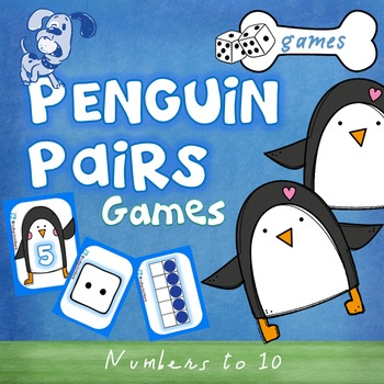 Numbers to 10 - Game - Penguin Pairs