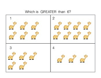 Numbers to 10 (Greater Than, Less Than or Equal to)
