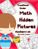 Numbers to 10 - Hidden Pictures for Transitional Kindergarten by Kinder League