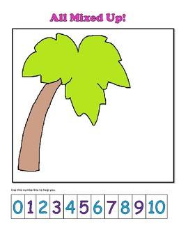 Numbers to 10 Home Practice Activities:  Coconut Tree Theme: Core Aligned