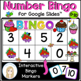 Numbers to 10 Interactive Bingo Game for Google Slides™