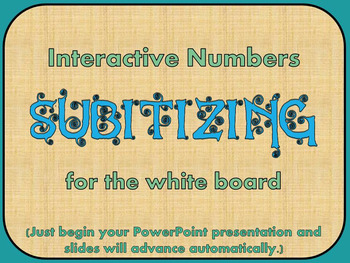 Numbers to 10 Interactive Subitizing