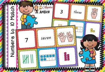 Numbers to 10 - Matching Cards