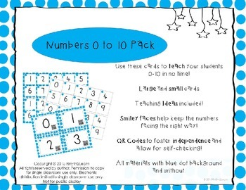 Numbers to 10 Pack with QR Codes