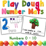 Numbers to 10 Play Dough Mats Center Activity -OR- Numbers