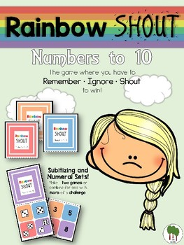 Numbers to 10 - Rainbow Shout - Numerals and Dice
