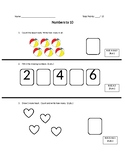 Numbers to 10 Test