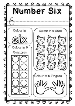 Numbers to 10 Worksheets , Numbers to Ten Printables, Counting Numbers