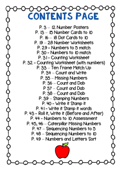 Numbers to 10 Worksheets & Activities