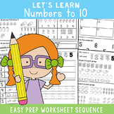 Number Worksheets for Number Sense {Kindergarten}