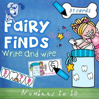 Fairy Finds Numbers to 10 Write & Wipe