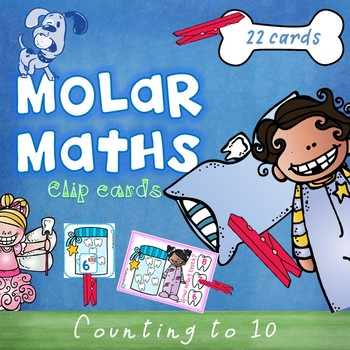 Molar Maths Numbers to 10 Clip Cards