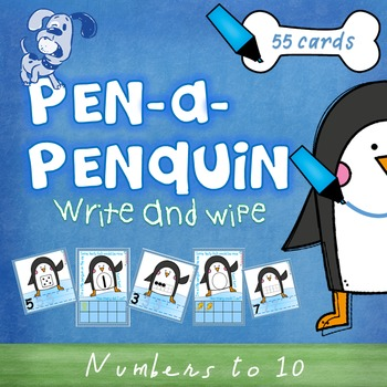 Numbers to 10 - counting, numerals - write & wipe cards