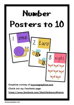 Numbers to 10 poster - vic cursive