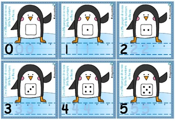 Pick a Penguin Numbers to 10 Write & Wipe & Clip Cards BUNDLE