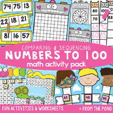 Numbers to 100 Activities - Comparing and Sequencing Numbers