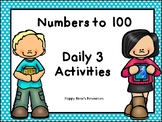 Numbers to 100 Daily 3 Activities