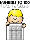 Numbers to 100 File Folders