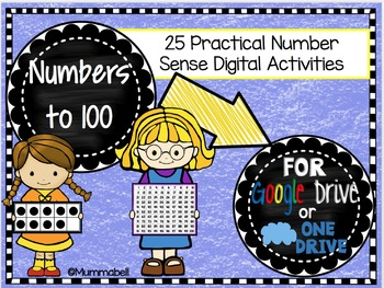Numbers to 100 - Google Drive™ and OneDrive™ Activity