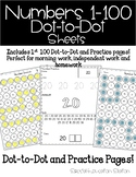 Numbers to 100 Practice Sheets: Dot to Dot and Stamp It sheets