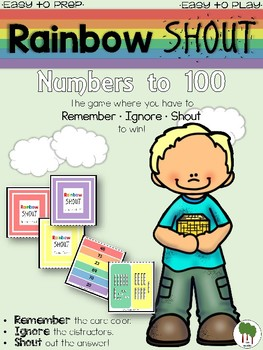 Numbers to 100 - Rainbow Shout - Numerals and Base Ten