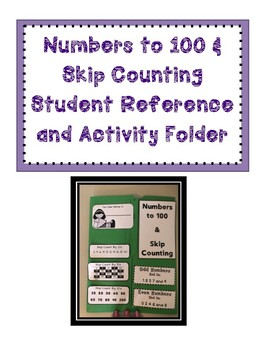 Numbers to 100 & Skip Counting Folder B&W or Colour option